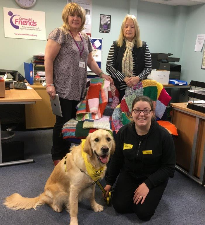 Lovely blankets go to the Dogs Trust Charity