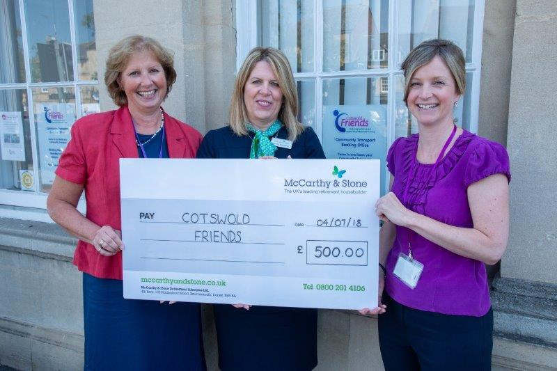 Cotswold Friends receives funding boost from local housebuilder