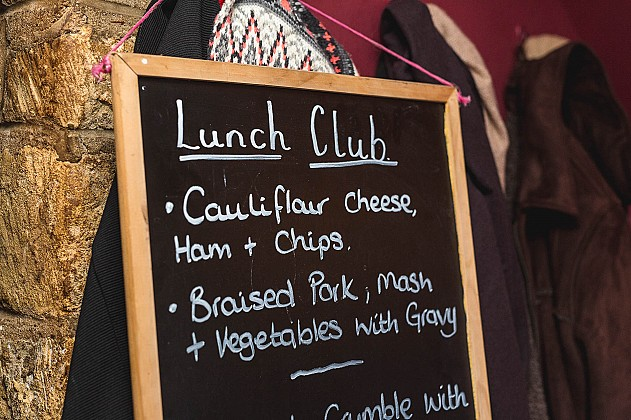 Longborough Lunch Club Menu