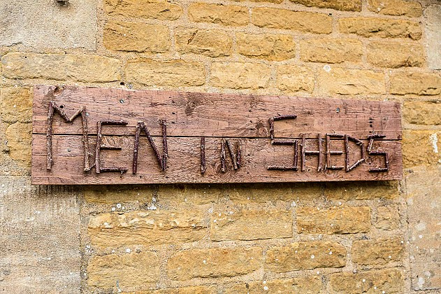 Men in sheds sign